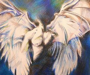 Angel Wings, fanart, and end of days image