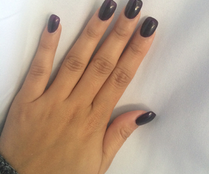 acrylic, dark nails, and dark purple image
