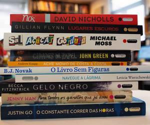 books, bookshelf, and livros image