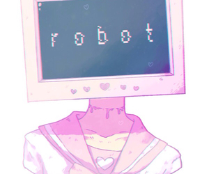 robot, anime, and pastel image