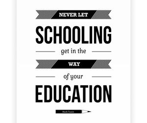education, fact, and schooling image