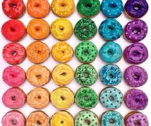 donuts, color, and food image