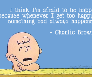 charlie brown, quotes, and happy image