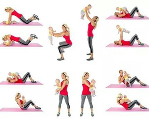 abs, baby, and exercise image