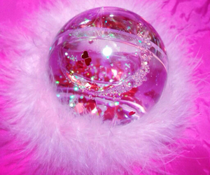 pink, fluffy, and glitter image