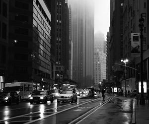 city, rain, and car image