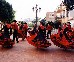 dancers, flamenco, and girls image