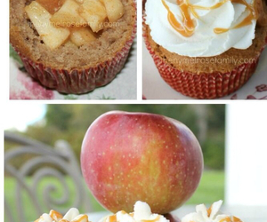apple, cooking, and cupcake image