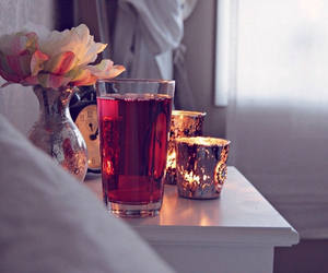 candle and flower image