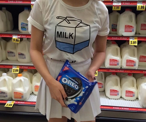 milk, oreo, and pale image