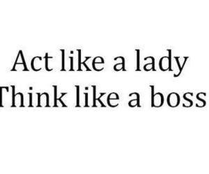 lady, boss, and text image
