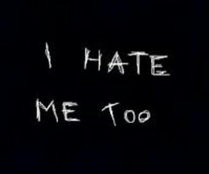 hate, black and white, and me image