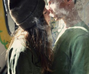 love, smoke, and couple image
