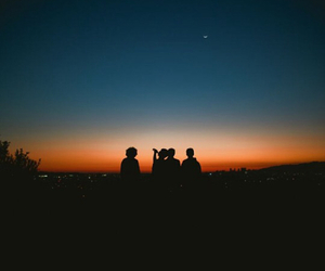 friends, sunset, and indie image