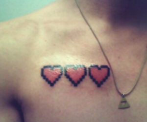 game, heart, and tattoo image
