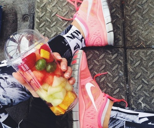 nike, fruit, and fitness image