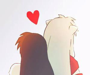 inuyasha, anime, and anime couple image