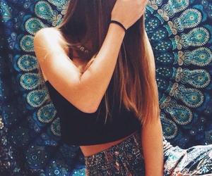 girl, fashion, and boho image