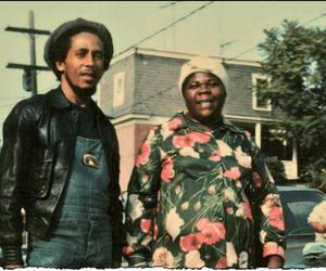 bob marley and mother image