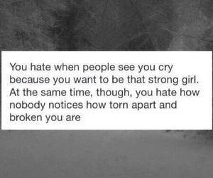 broken, crying, and girl image