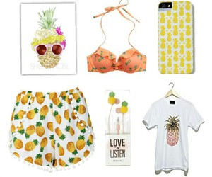 pineapple shorts, pineapple phone cases, and pineapple bra image