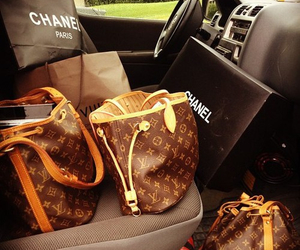 chanel, Louis Vuitton, and bag image