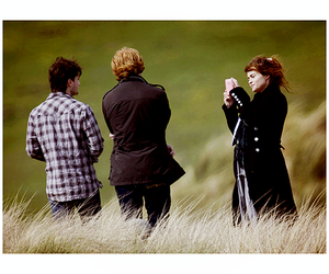 daniel radcliffe, harr, and deathly hallows image
