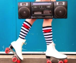 radio, vintage, and music image