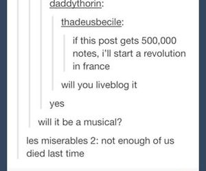 funny, jokes, and les miserables image