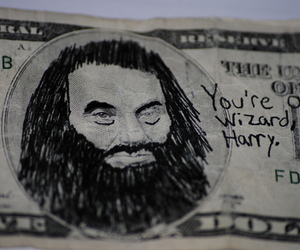 harry potter, hagrid, and money image