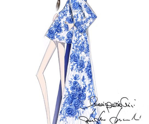 fashion, Valentino, and illustration image