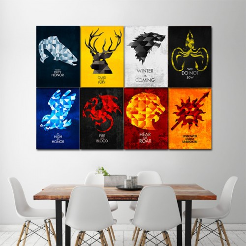 Game of Thrones-House Sigils Block Giant Wall Art Poster Ideas For Design House Sigils on back house ideas, blue house ideas, stone house ideas, nature house ideas, green house ideas, spirit house ideas, water house ideas, dream house ideas, steampunk house ideas, fire house ideas,