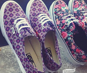 fashion, floral, and vans image