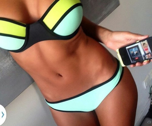 beach, diet, and fashion image