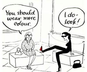 black, funny, and red image