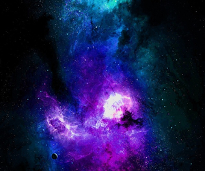 galaxy, stars, and purple image