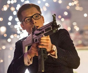 Colin Firth, samuel jackson, and galahad image