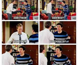 ted mosby, Barney Stinson, and funny image