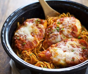 pasta, Chicken, and food image