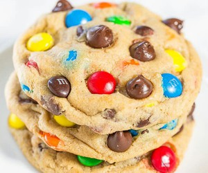 food, Cookies, and m&m's image
