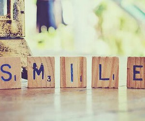 smile and scrabble image