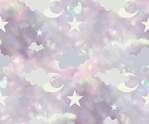 moon, pastel, and stars image