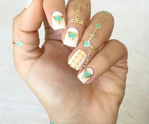 nails, rings, and nailart image