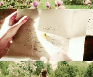 film, flowers, and Letter image