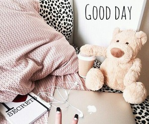 bed, good day, and apple image