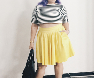 chubby, plus, and purple hair image