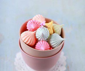 sweet, meringue, and pastel image