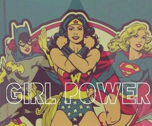 girl power, Supergirl, and wonder woman image