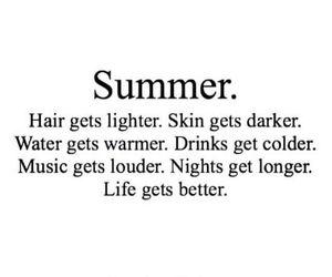 summer, life, and hair image
