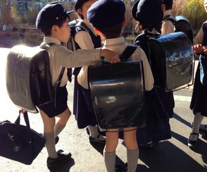 japan, kids, and school image